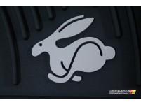 Rubber Mat Set (mk5 Rabbit), OEM