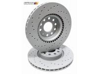 Front Brake Disc (312x25mm), Zimmermann X-Drilled (Pair)