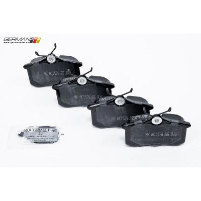 Rear Brake Pads, Akebono Ceramic