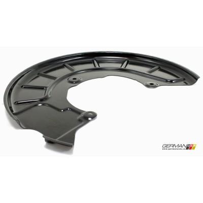Driver Front Brake Dust Shield, OEM